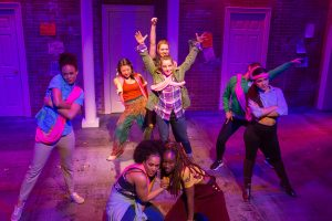 "Malena Pennycook (center) and the cast of ""Ms. Estrada"". Photo: Hunter Canning."