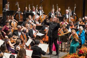 Jaap van Zweden conducts the New York Philharmonic. Photo: Chris Lee