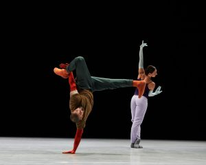 Rauf 'RubberLegz' Yasit (left), Parvaneh Scharafali (right). A Quiet Evening of Dance. Photo: Mohamed Sadek. Courtesy The Shed